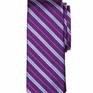 Brooks's Brothers Purple Alternating Framed Tie
